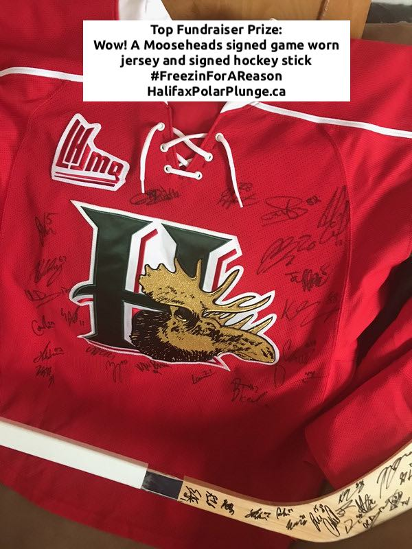 Mooseheads prize package for Halifax Polar Plunge 2020